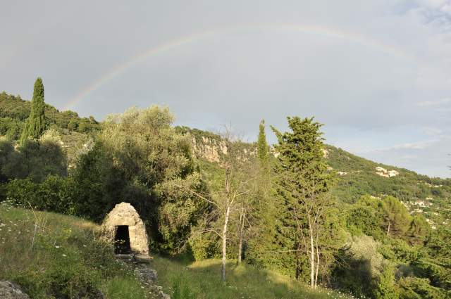 Rainbow leads to 'our pot of gold' LaSoleiade and our ancient well