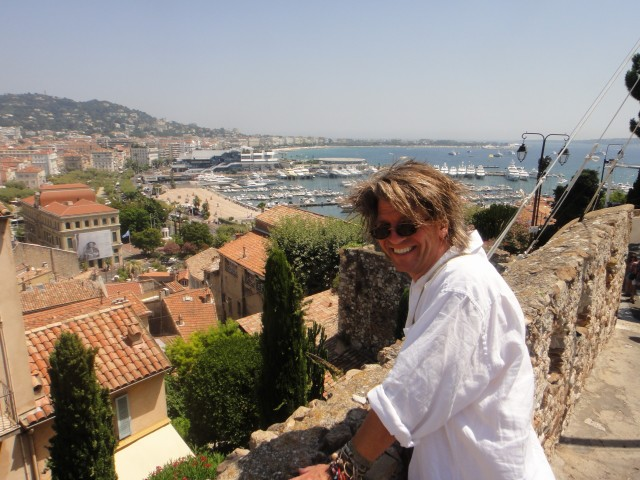 Looking over the port in Cannes.