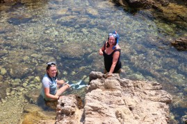 snorkeling on Lerins